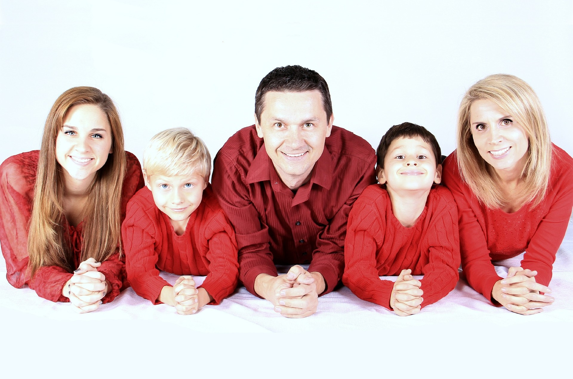 family-in red